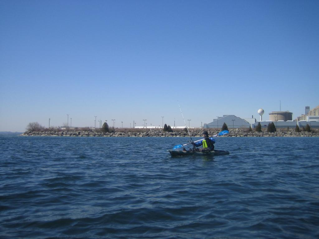 IMG 7533 Spring kayak fishing on Lake Ontario